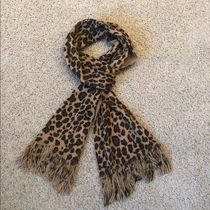 Animal print scarf.  Very soft with gold thread.